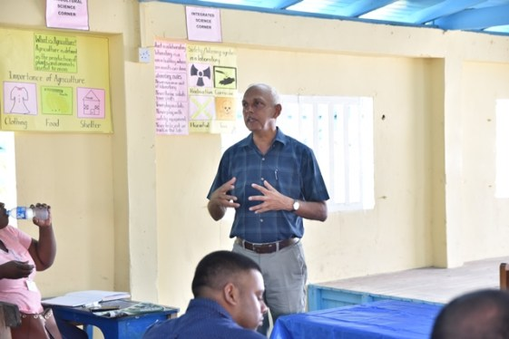 Minister of Communities, Hon. Ronald Bulkan addressing residents of Charity.