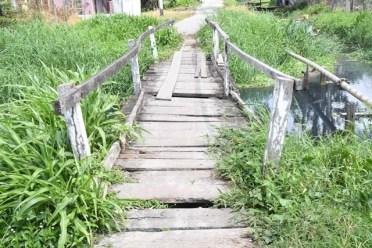 The present condition of Flour Mill Bridge