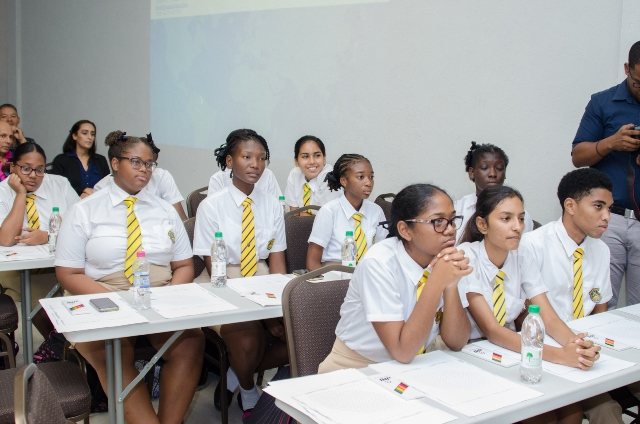 Queen's College students during the forum.