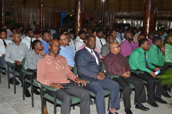 A section of the gathering pays attention to the presentations