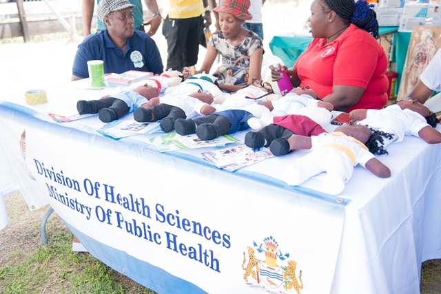 Scenes from the Festival City Health Fair.