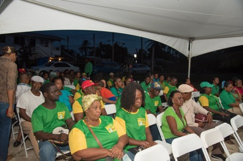 Residents of Better Hope South at the community engagement on Friday evening.