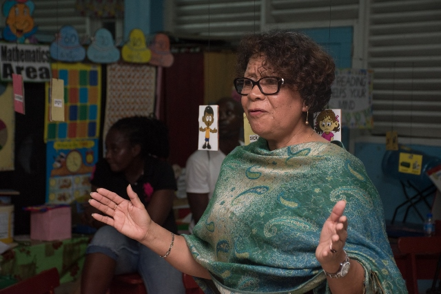Minister within the Ministry of Indigenous Peoples' Affairs, Hon. Valerie Garrido-Lowe.