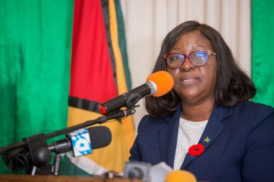 Minister of Foreign Affairs, Hon. Dr. Karen Cummings.