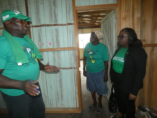 Minister of Foreign Affairs, Hon. Dr. Karen Cummings engaging residents of Maria Elizabeth.