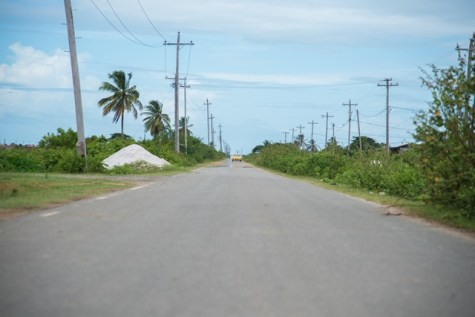 Fairly new constructed road at the entrance of HCIL