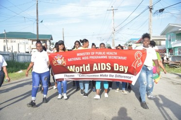 Some of the participating organisations in this year's World Aids Day walk