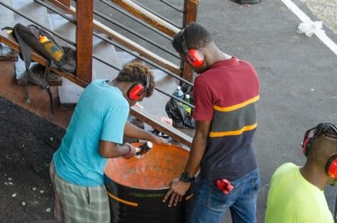 Scenes during the Steel Pan Builders Workshop