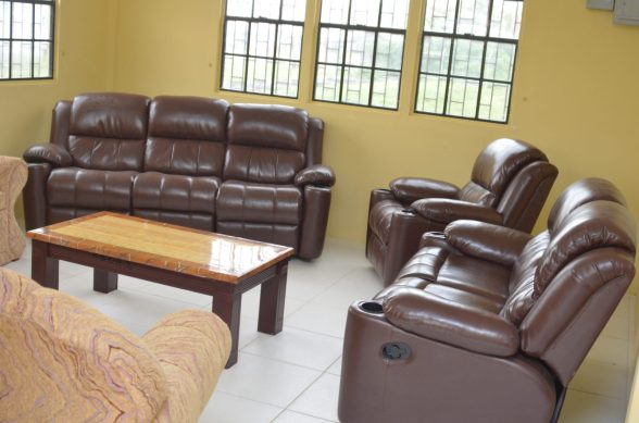 The living room in the maternity waiting home