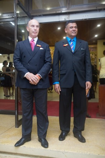 His Excellency Javier Carbajosa, Ambassador of Spain to Guyana and Honouray Consul of Spain to Guyana Brian Tiwarie, A.A