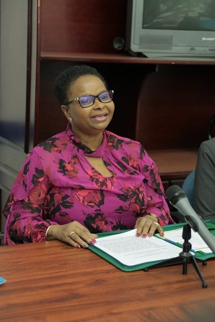 Minister of Public Health, Hon. Volda Lawrence
