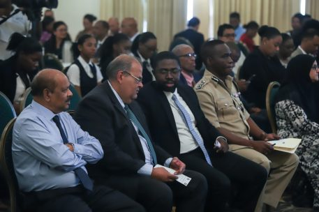 Governor of the Bank of Guyana Dr. Gobind Ganga was present at the workshop