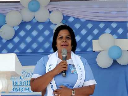 Pamela Jonas giving her testimony