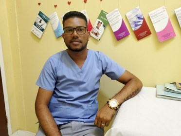 Andrew Brikharry a Community Health Worker assigned to the clinic.