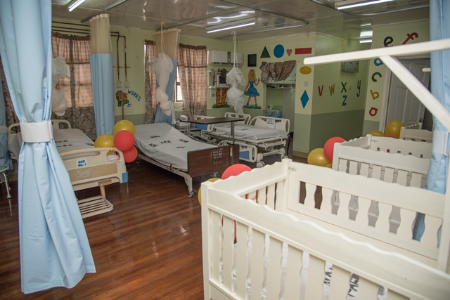 A glimpse of inside the new pediatric ward at the Mahaicony Cottage Hospital.