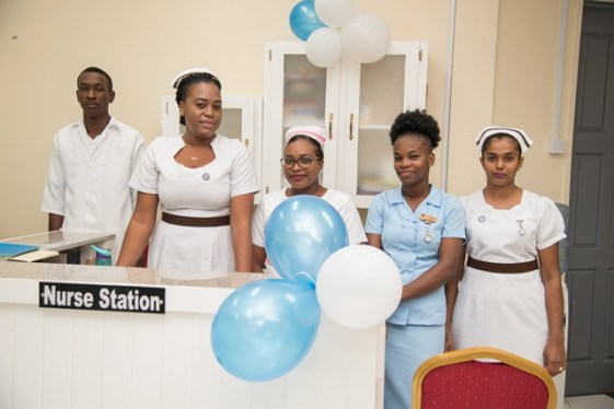Staff of the newly commissioned outpatient department.