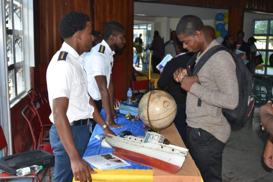 Cadets within MatPal Marine Institute engage with attendees at Wednesday's career fair