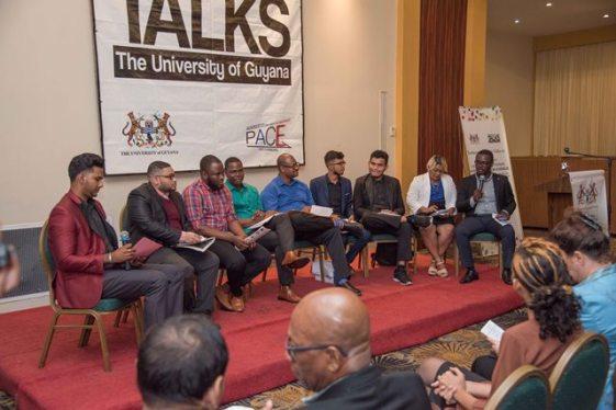 [L-R] Youth candidates representing URP, TNM, TCI, APNU+AFC, LJP, CG and ANUG.