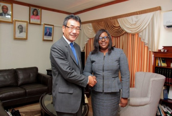 Non-Resident Ambassador of Japan to the Co-operative Republic of Guyana, His Excellency Tatsuo Hirayama calls on Minister of Foreign Affairs, the Honourable Karen Cummings.
