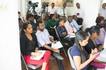 Media workers undergo GPA+GECOM Elections Training.