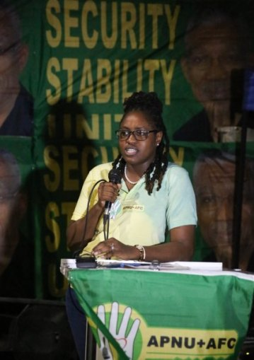 Minister of Public Service, Tabitha Sarabo-Halley.