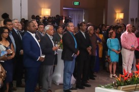 A section of the gathering at the reception to observe First Oil.