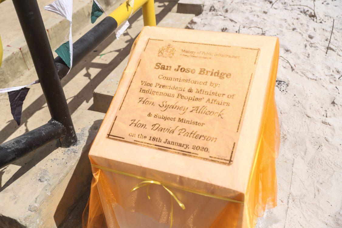 Commemorative plaque at San Jose bridge