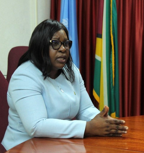 Minister of Foreign Affairs, Dr. Karen Cummings holds a meeting to discuss concerns relative to the outbreak of the novel coronavirus.