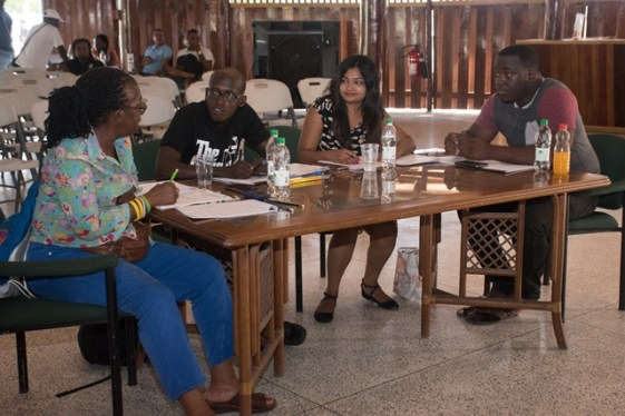 Judges for the 'Talent Fiesta' Auditions.