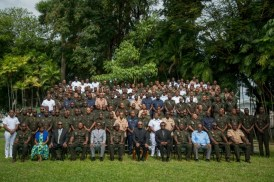 President and Commander in Chief David Granger and officers at the Annual GDF Officers' Conference.