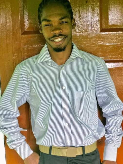 Young resident of Kwakwani, Royston Downer
