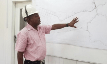 Senior Network Technician, Carl Abrams illustrating the scope of the project.