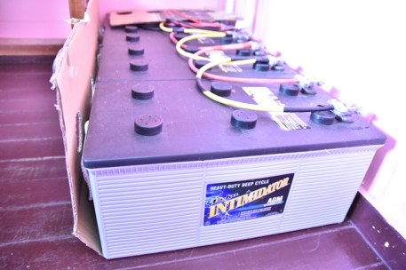 Solar power batteries which help to power the health facility(s).