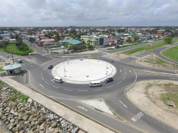Aerial shot of kitty roundabout.
