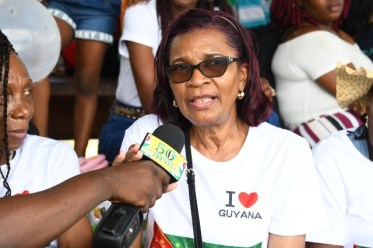 Annette Makenzie says she is proud to be home to celebrate Guyana's 50th Republic anniversary.