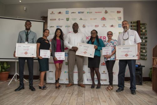 CEO of GTT Justin Nedd along with the sponsors who were recognised