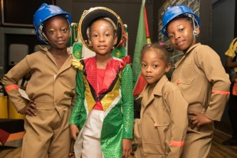 One Mile Primary students pose for a photo after performing in the calypso 8-10 age category.