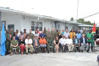 Representatives from local, regional and international organisations.