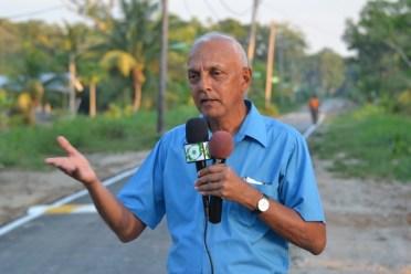 Minister of Communities Hon. Ronald Bulkan addressing the residents of Alliance, Timehri.