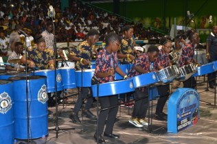 Guyana Police Force B Division, the winner of the Small Youth Bands category.