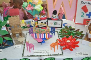 Some of the craft on display by Eccles Nursery School.