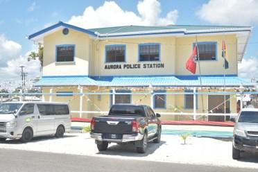 The Aurora Police Station.