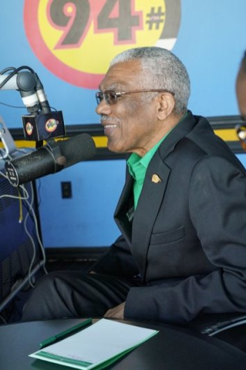 """His Excellency President David Ganger during his interview on 94.1's """"Hot Seat."""