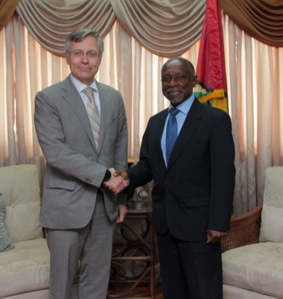 His Excellency Ikonen also took the opportunity to meet with Foreign Secretary, the Honourable Carl B. Greenidge.