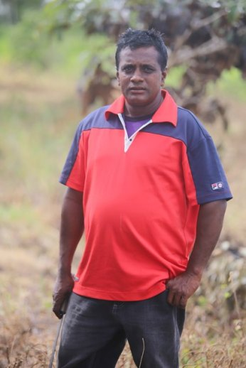 Mahadeo Mohabir, one of the beneficiaries of the tractor.