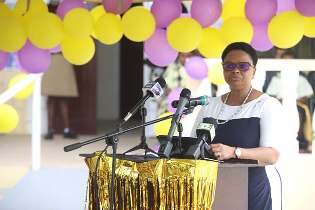 Minister of Public Health Volda Lawrence.