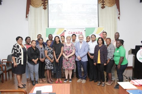 Participants and facilitators of the three-day capacity building workshop which was held at the Arthur Chung Conference Centre, Liliendaal.