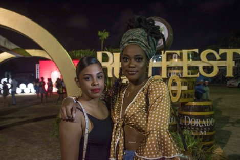 Guyanese Saskia Nelson and Latoya Zaffer
