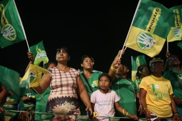 Some of the supporters at the rally in Lethem