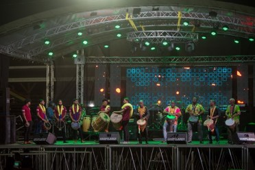 Feel the Beat-Tassa Group and Otishka Drummers during their thrilling performance.
